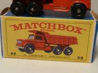 MATCHBOX LESNEY NO.48 DODGE DUMPER TRUCK, NM, BOXED
