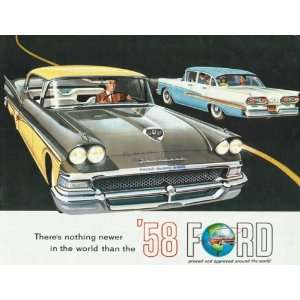 1958 Ford Fairlane Folding Sales Brochure (Original