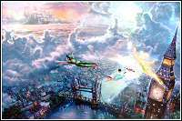 for Tinker Bell and Peter Pan Fly to Neverland by Thomas Kinkade