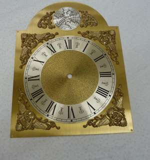 GRANDFATHER CLOCK DIAL WITH ROMAN NUMERALS FOR CHAIN DRIVEN MOVEMENT