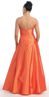 Be the belle of the ball in this beautiful strapless taffeta gown