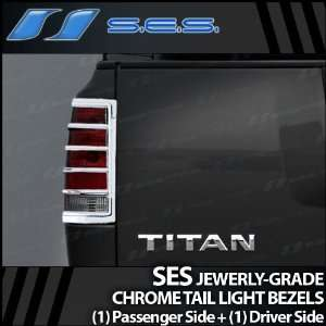 2004 2011 Nissan Titan SES Chrome Tail Light Bezels