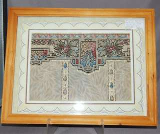 Fabulous Framed William Morris Style 1925 Wallpaper/Arts & Crafts Era