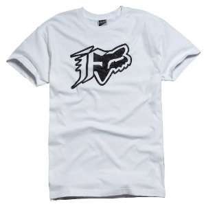 Fox Racing Stockholm T Shirt   Medium/White Automotive