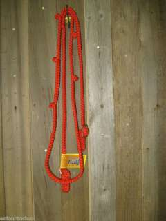 Red Braided Nylon Knotted Barrel Racer Racing Reins