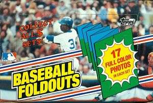1983 TOPPS BASEBALL FOLDOUTS WAX BOX 20 PACKS FROM CASE