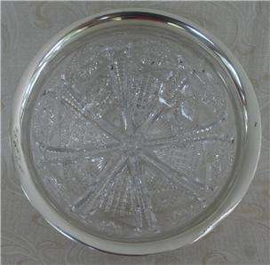 Antique~Large~Thick~ABP cut glass bowl American brilliant Period