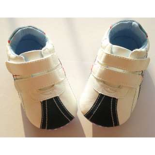 Cute Toddler Infant Baby Boys Shoes 6 12m White Blue