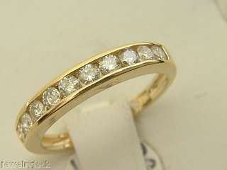 14 KT SOLID YELLOW GOLD LADIES 0.50 CARAT DIAMOND WEDDING BAND