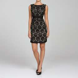 Jonathan Martin Womens Sleeveless Lace Dress