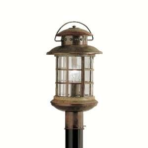 Kichler Lighting Kichler 9962RST Rustic 1 Light Outdoor Post Lantern