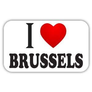 I Love BRUSSELS Car Bumper Sticker Decal 5 X 3