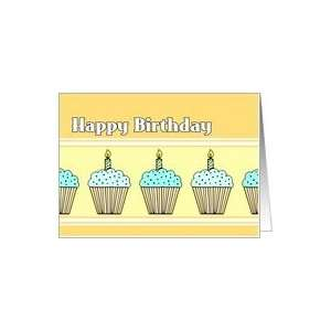 Cupcakes Happy Birthday for Kids Card Card Toys & Games