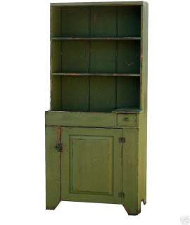 CUPBOARD PRIMITIVE PAINTED FARMHOUSE DRY SINK HUTCH EARLY AMERICAN
