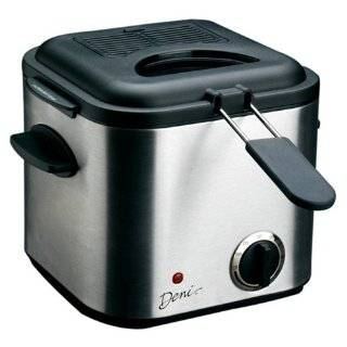 Deni 9301 Mini 840 Watt 1 1/4 Quart Stainless Steel Deep Fryer