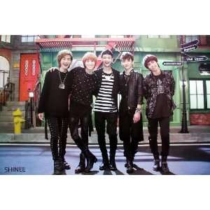 Shinee K Pop Korean Boy Band Dancer Wall Decoration Poster Size 35x23