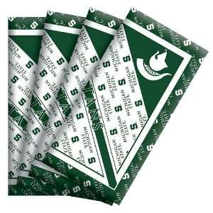 NCAA Michigan State Spartans 4 Pack Cloth Napkins Office