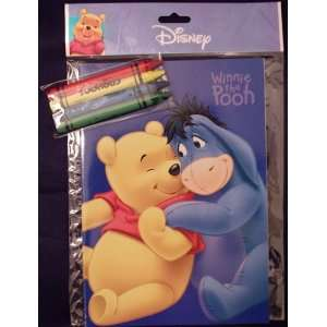 Winnie Pooh Coloring Book and Crayons Toys & Games