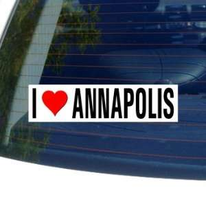 Love Heart ANNAPOLIS   Maryland Window Bumper Sticker Automotive