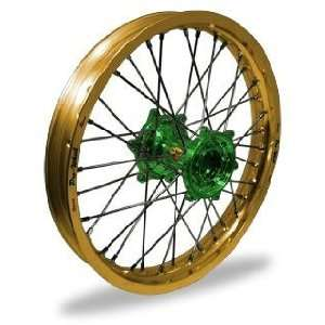 Wheel Set   16x1.60   Gold Rim/Green Hub 24 13654 HUB/RIM Automotive