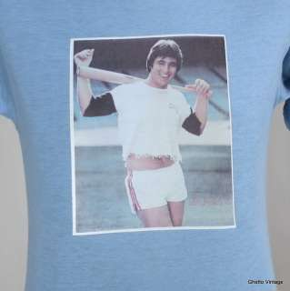 70s BUCKY DENT In Short Shorts NEW YORK YANKEES t shirt SMALL