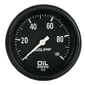 Auto Meter 2312 Auto Gage 2 5/8 0 100 PSI Mechanical Oil
