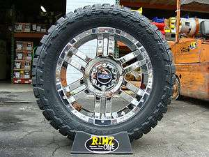 951 Chrome wheels rims 33x12.50R20 Toyo MT 33 mud tires MT