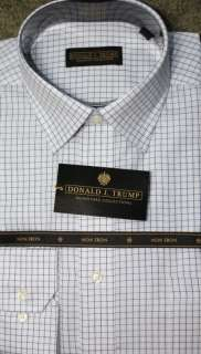 Donald Trump blue plaid (clearwater) Non iron shirt