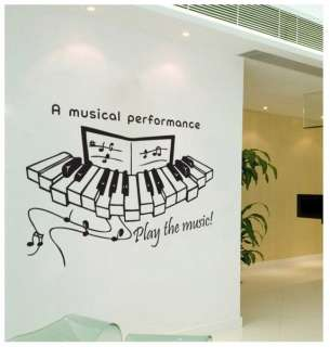 Big Music Piano Adhesive WALL STICKER Removable Decal
