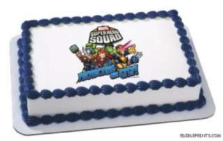 Super Hero Squad Edible Image Icing Cake Topper