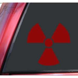 Radiation Symbol Vinyl Decal Sticker   Dark Red