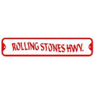 ROLLING STONES HWY. sign street rock music