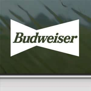 Budweiser White Sticker Vintage Car Vinyl Window Laptop