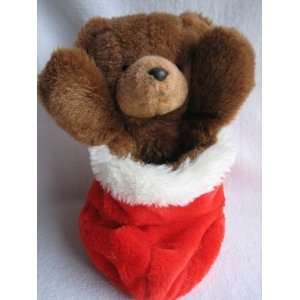 Applause Red Stocking Teddy Bear (13)