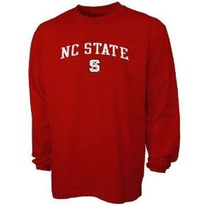 adidas North Carolina State Wolfpack Red In Play Long Sleeve T shirt