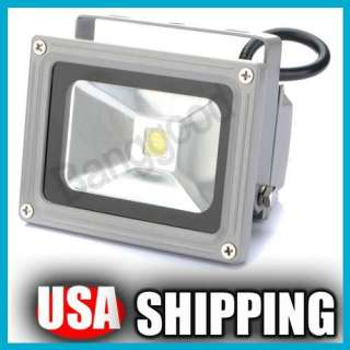 10W Pure White High Power LED Flood Wash Light Lamp Outdoor Waterproof