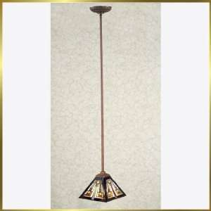 Tiffany Pendant, QZTF1516Z, 1 light, Antique Bronze, 8