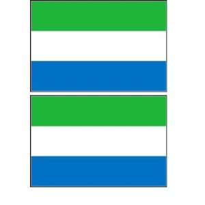 Sierra Leone Flag Stickers Decal Bumper Window Laptop Phone Auto