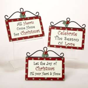 Club Pack of 12 Inspirational Saying Wooden Christmas Wall Plaques 7