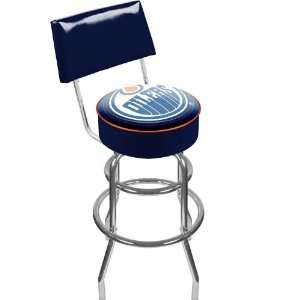 NHL Edmonton Oilers Padded Bar Stool with Back Sports