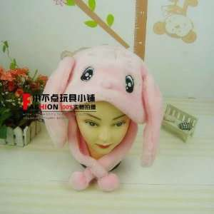 Best Christmas Gift  Pink Rabit Hat with Ears for Winter
