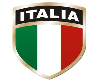 Italia SHIELD Flag Sticker ITA Italian Italy Vinyl Window Bumper Decal