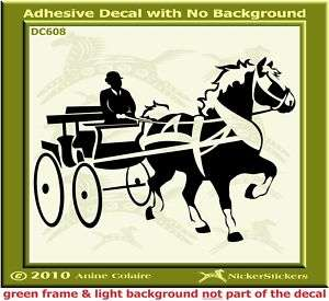 Belgian Draft Horse Driving Trailer Decal Sticker 608