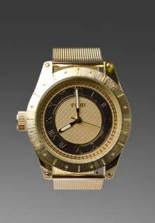 FLUD WATCHES Big Ben in Gold/Carbon