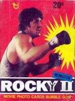 ROCKY 2 MOVIE 1979 TOPPS TRADING CARD BOX
