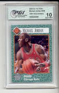 1989/04 Michael Jordan SI for Kids Card RC PGI 10 Air