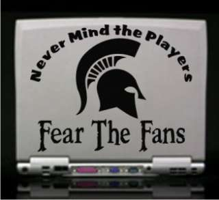 Michigan State Spartans Vinyl Decal Sticker Fear Fans