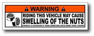 Big Nuts Funny Warning Decal Window Sticker Graphic Car Truck 4x4 Team