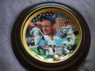 FRANKLIN MINT ROYAL DOULTON BASEBALL PLATE LOU GEHRIG
