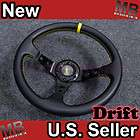 Scion XA XB TX XD Smart 320mm Drift Steering Wheel Yellow with JDM
